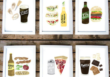 Las modernas láminas ilustradas para tu cocina de Heidi Schweigert