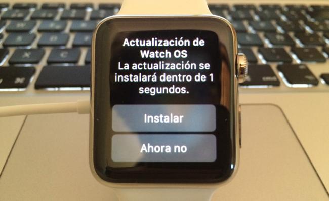 Apple Watch Actualizacion