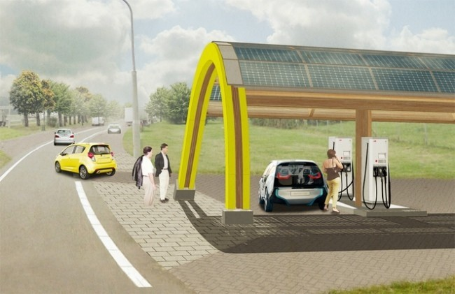 ABB fast charging station