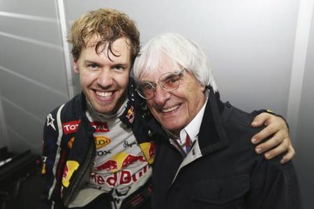 Bernie Ecclestone cree que Sebastian Vettel debería triunfar en otro equipo