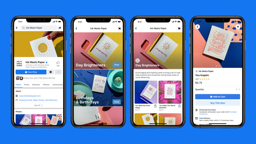 Facebook presenta sus tiendas 'online': serán gratuitas y permitirán vender en Facebook, Instagram y WhatsApp