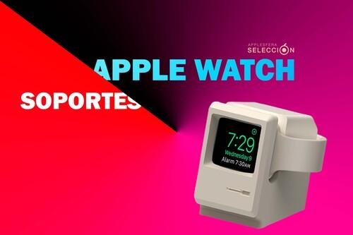 """Dale a tu nuevo Apple Watch Series 7 una """"cama"""" con uno de estos nueve soportes para mesita de noche y escritorio"""