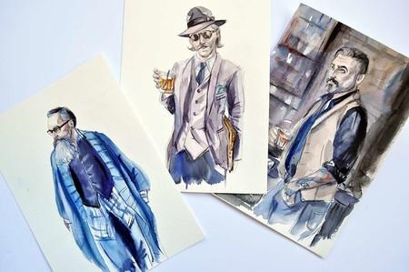 Tres ilustradoras que muestran (a todo color) su visión de la moda masculina