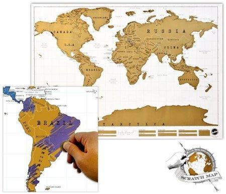 My Scratch Map, raspa el territorio de los países visitados