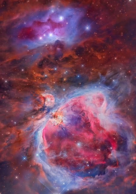 Mosaic Of The Great Orion Running Man Nebula C Miguel Angel Garcia Borrella And Lluis Romero Ventura