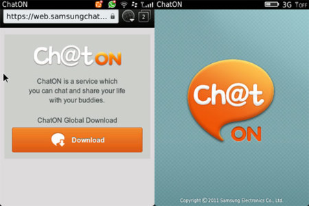 Samsung ChatON también disponible para BlackBerry