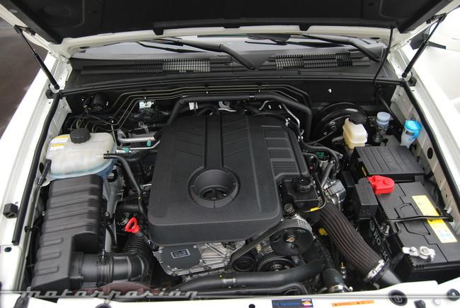 Motor 2.0 e-XDi en el vano de un Rexton W