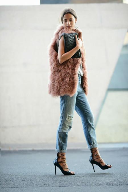Tendencias en abrigos de invierno 2013-201 Chalecos de pelo o faux fur vest