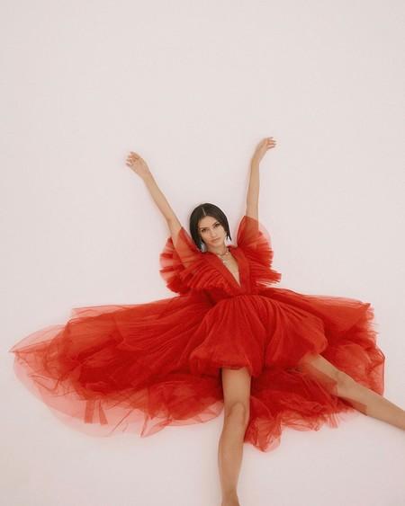 Giambattista Valli Hm Red Dress Tulle 04