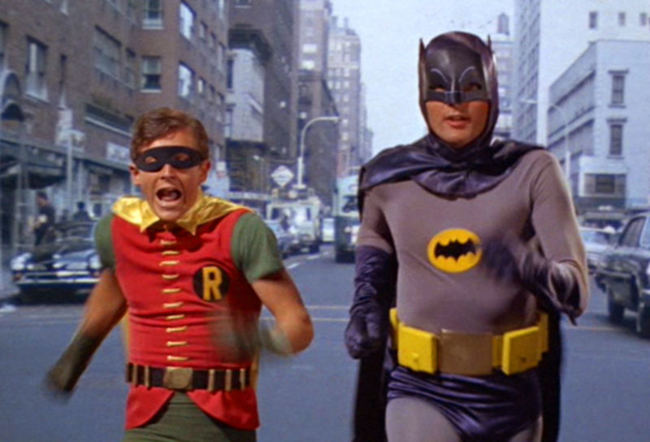 Robin y Batman en los 60, Burt Ward y Adam West bajo la máscara