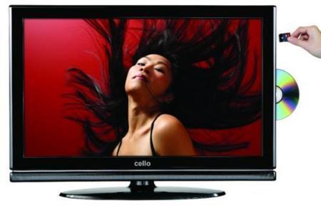 Televisor de Cello Electronics con DVD integrado y que graba en tarjetas SD