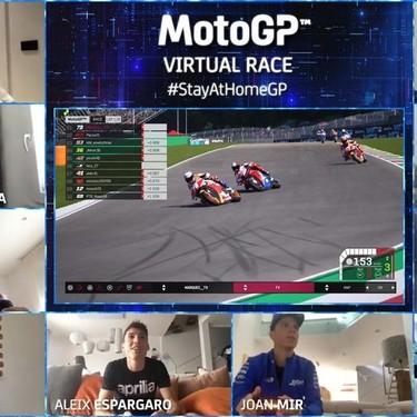 Casi medio millón de personas han visto en Youtube la primera carrera virtual de MotoGP que ganó Álex Márquez