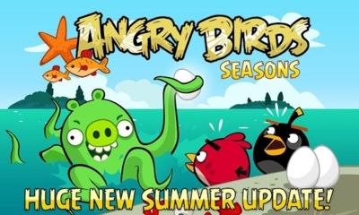 Angry Birds Seasons se actualiza para recibir el verano con nuevos niveles con mucha agua
