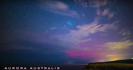 Un fotógrafo capta al mismo tiempo tres fenómenos metereológicos raros: aurora austral, lluvia de meteoritos y espectros rojos