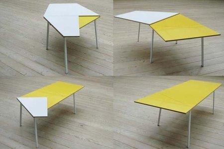 Una mesa plegable muy original
