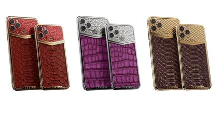 Iphone 11 Pro Oro Plata Piel Cocodrilo Piton