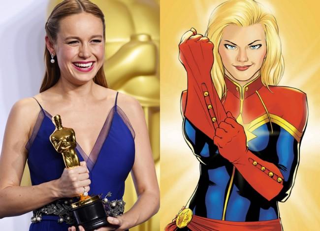 Brie Larson será la Capitana Marvel