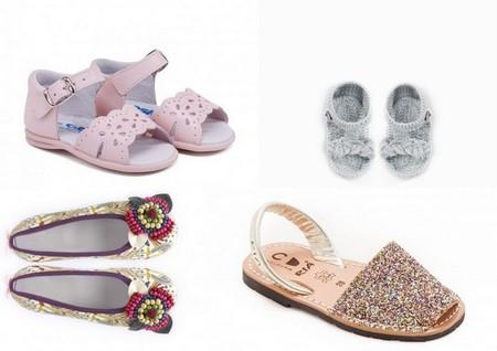 Zapatos para bebés niña y niña verano 2014