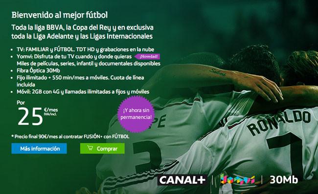 Movistar tiene nuevo paquete de fútbol: Liga, partizado, Copa y ligas europeas por 25 euros