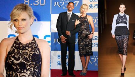 El look de Charlize Theron en la premiere de  Hancock en Japón