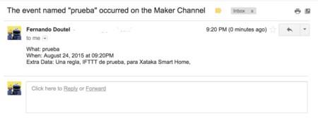 El evento llamado prueba ha tenido lugar en el canal The Maker Channel
