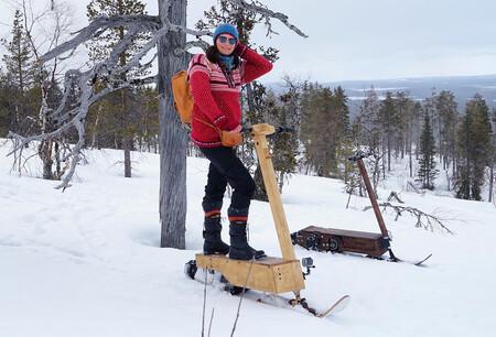 El patinete eléctrico para la nieve existe, ofrece 32 km de autonomía pero todavía es demasiado caro