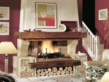 Chimeneas calor de hogar en tu vida - Chimeneas rusticas ladrillo ...