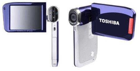 La pantalla táctil llega con las Toshiba Camileo P20 y S30