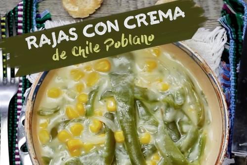 Cómo hacer rajas con crema. Receta de comida mexicana en video