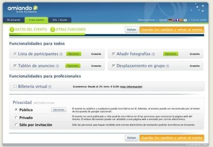 Novedades en Amiando, ahora con soporte del español entre otras novedades