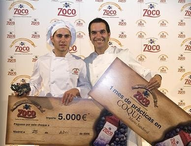 Adrián Mancheño, ganador del V Concurso Zoco de Jóvenes Cocineros