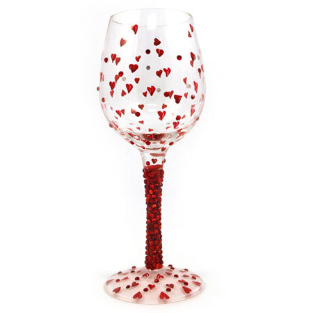 San Valentín: Romántica copa de vino