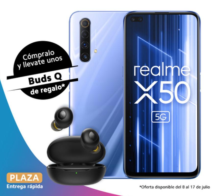 realme X50 5G 6GB 128GB con auriculares Realme Buds Q TWS de regalo