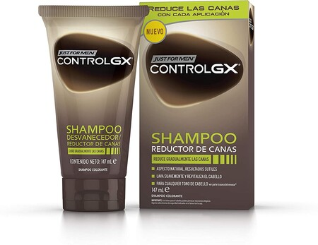 Just For Men Control Gx Champu Reduce Las Canas Gradualmente Resultado Natural 147 Ml
