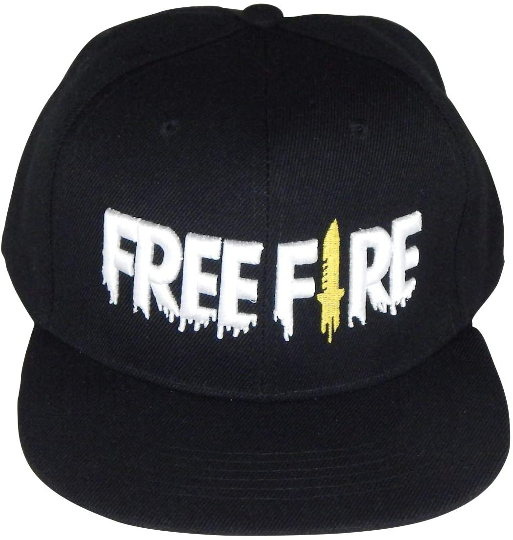 UNKNOW Gorra Free Fire con Bordado 3D Color Negro para Adultos Moda Gamer Snapback