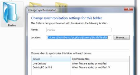 Sincronizando Firefox con Live Mesh