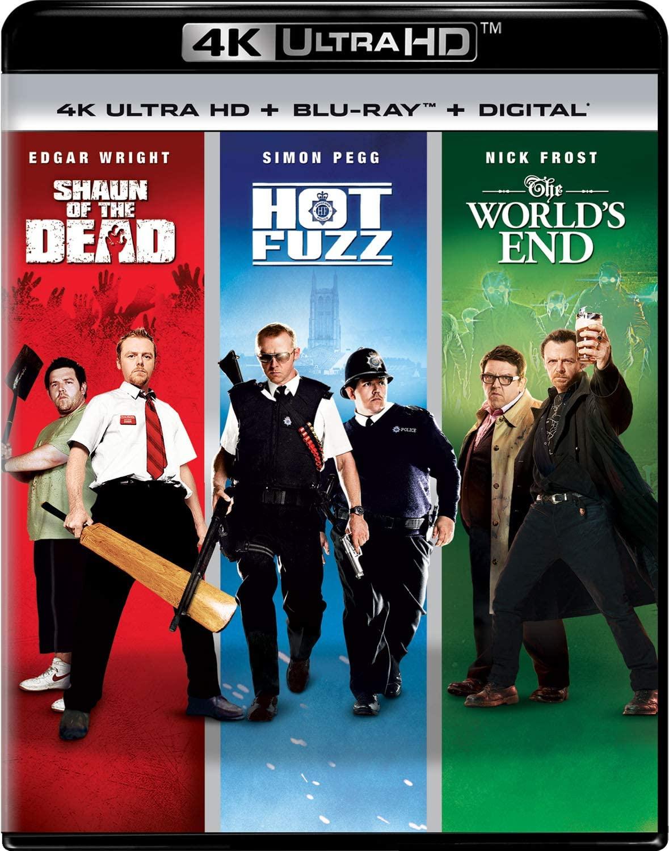 Shaun of the Dead / Hot Fuzz / The World's End en Blu-ray 4K