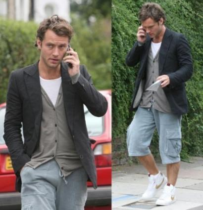Jude Law estilo casual
