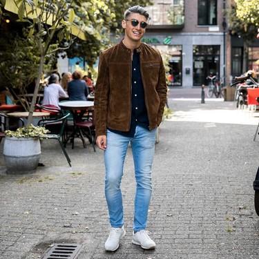 La chaqueta en suede se corona como la pieza clave del mejor street style de la semana