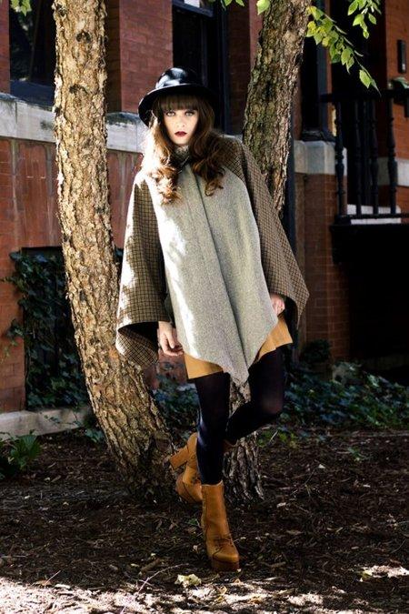 Capa abrigo Moda en la calle