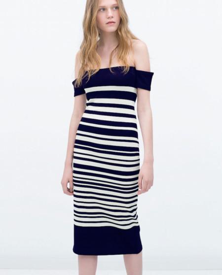 Modelos de vestidos cuello bandeja