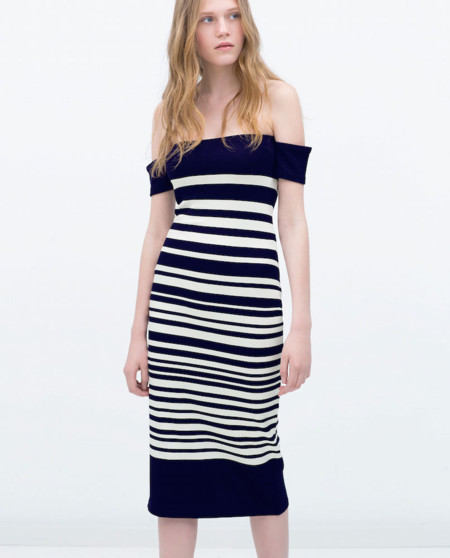 Vestido Rayas Zara