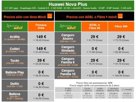 Precios Huawei Nova Plus A Plazos Con Orange