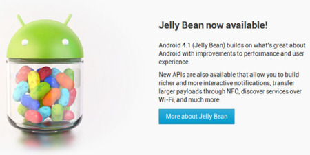 Ya disponible el SDK de Android 4.1 (Jelly Bean). Galaxy Nexus, Nexus S y Motorola Xoom actualizarán en Julio