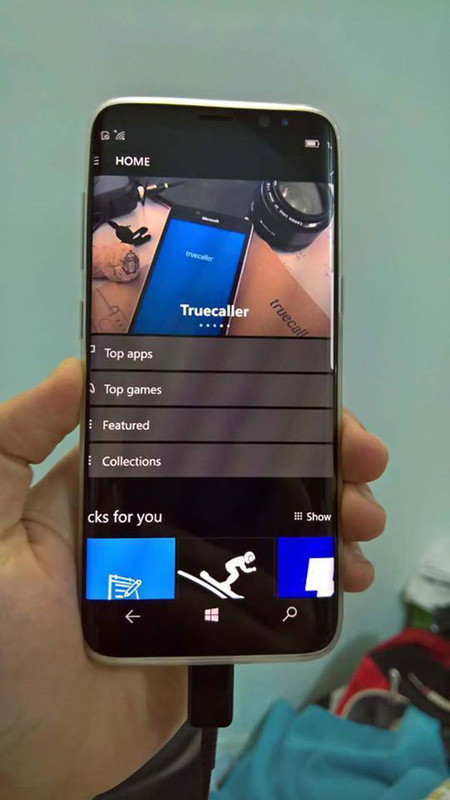 Samsung Galaxy S8 Windows 10 Mobile 1