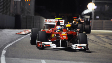 Alonso Vettel Singapur F1 2010