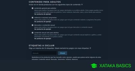 Cómo ocultar los juegos para adultos de tu tienda de Steam