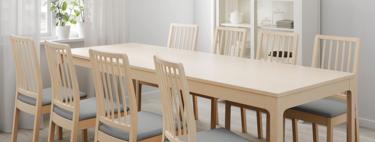 ¿Problemas para sentarse a la mesa en Navidad? Ikea soluciona el problema con esta selección de mesas extensibles y sillas plegables