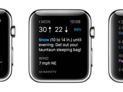 La mejor app de meteorología para el Apple Watch (casi) es…
