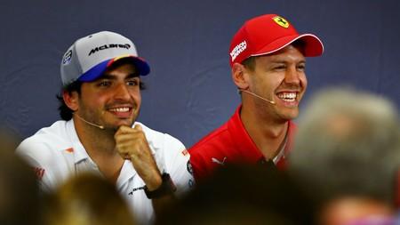 Sainz Vettel Ferrari